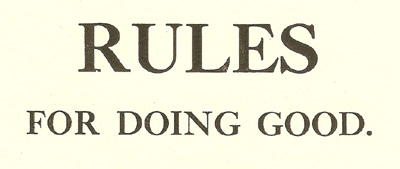 Shaker rules for doing good